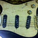 birdseye maple pickguard black strat