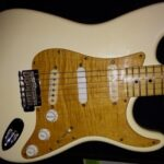 curly maple pickguard on Strat