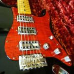 red figured maple Strat pickguard