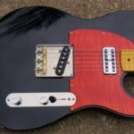 Black tele maple pickguard