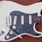 quilted maple pickguard white Strat