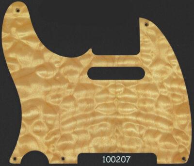 maple pickguard 207 natural quilt tele