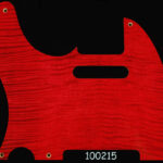 maple pickguard 215 red flame tele