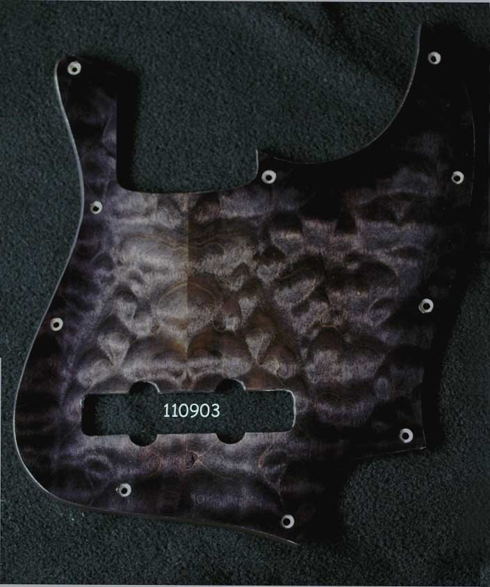 quilted jazz bass maple pickguard