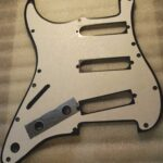 aluminum rear shield on Strat pickguard