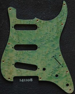 aqua birdseye strat maple pickguard 108