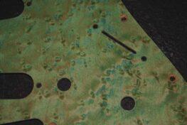 detail image aqua birdseye strat pickguard 108a