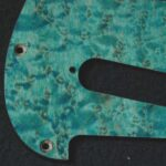 detail image aqua birdseye strat pickguard 911b