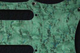 detail image aqua birdseye strat pickguard 912a