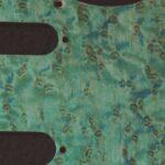 detail image aqua birdseye strat pickguard 914a