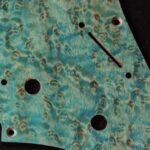 detail image aqua birdseye strat pickguard 914b