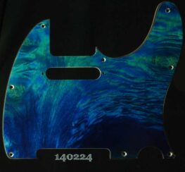 aqua quilt tele maple pickguard 224