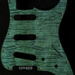 blue curly strat maple pickguard 439