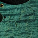 detail image blue curly strat scratchplate 439c