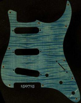 blue figured strat maple pickguard 715