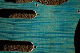 detail image blue figured strat pickguard 715a