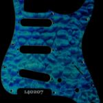 blue quilt strat maple pickguard 207