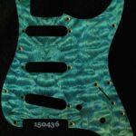 blue quilt strat maple pickguard 436