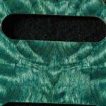 detail image blue quilt strat maple pickguard 436