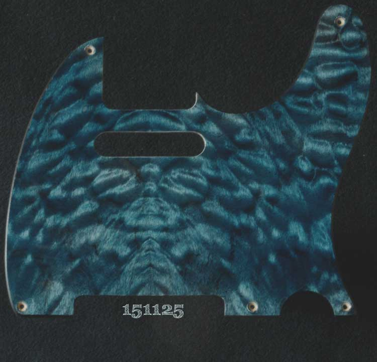 blue quilt tele maple pickguard 125
