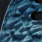 detail image blue quilt tele maple pickguard 125a