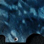 detail image blue quilt tele maple pickguard 125b