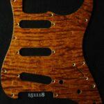 brown figured strat maple pickguard 118