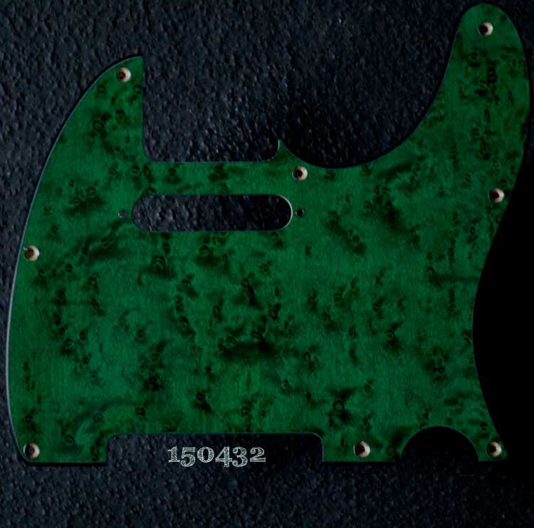 emerald tele maple pickguard 432