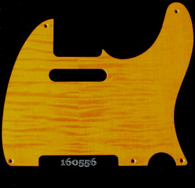 gold figured tele maple pickguard 556