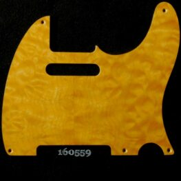 gold quilted tele maple pickguard 559