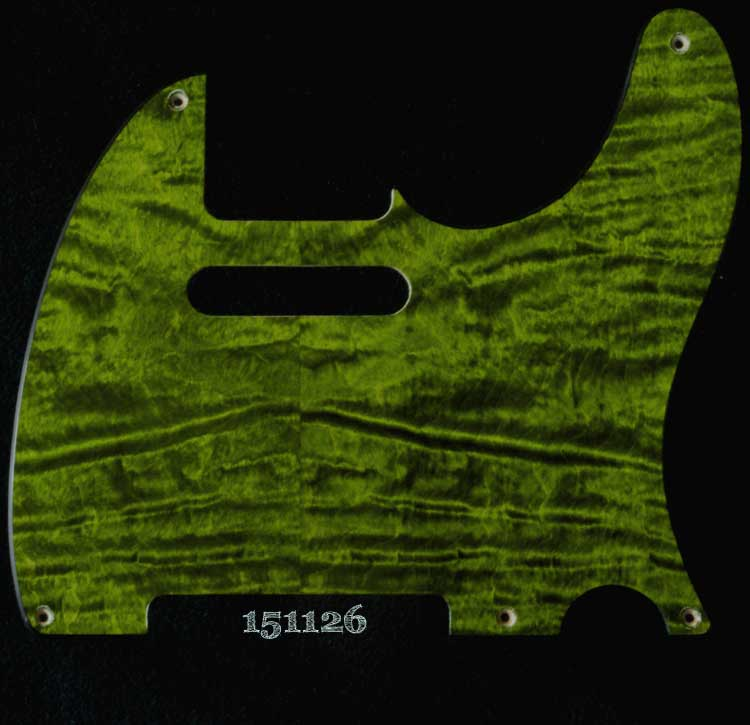 green curly tele maple pickguard 126