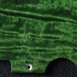 detail image green curly tele pickguard 126b