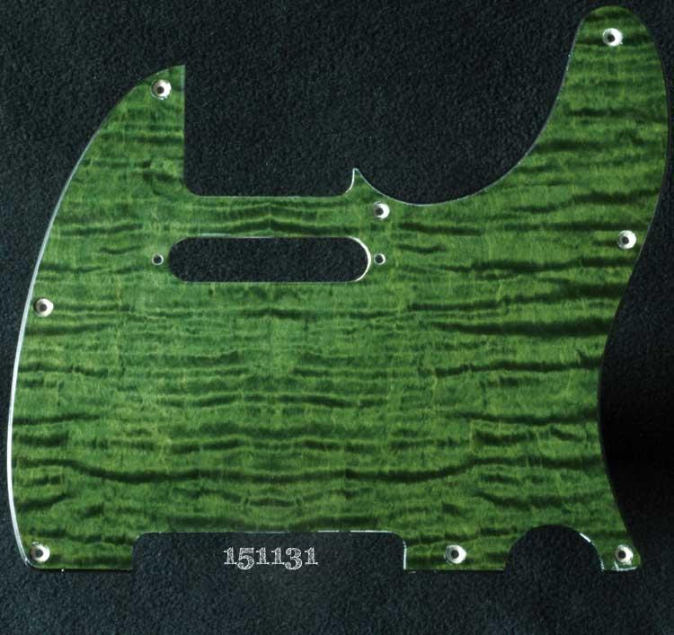 green curly tele maple pickguard 131