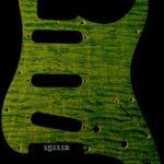 green figured strat maple pickguard 112