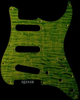 green figured strat maple pickguard 112