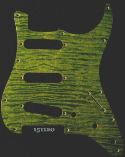 green figured strat maple pickguard 120