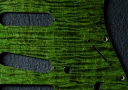 detail image green figured strat pickguard 201a