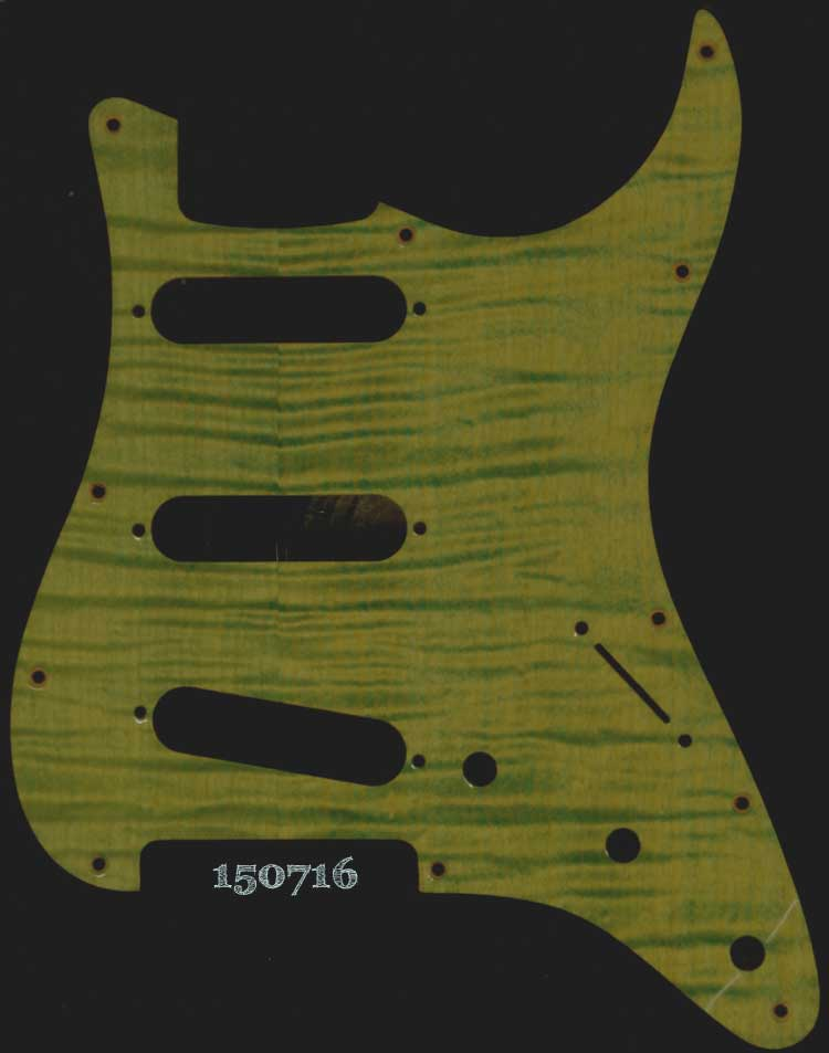 green figured strat maple pickguard 716