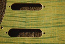 detail image green figured strat pickguard 716a