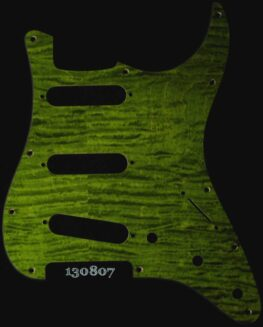 lime curly strat maple pickguard 807