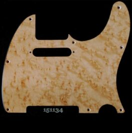 natural birdseye tele maple pickguard 134