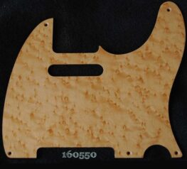 natural birdseye tele maple pickguard 550