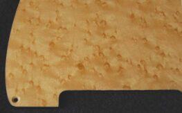 detail image natural birdseye tele pickguard 550a