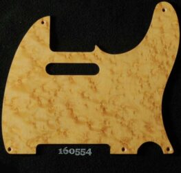 natural birdseye tele maple pickguard 554