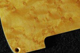 detail image natural birdseye tele pickguard 554a