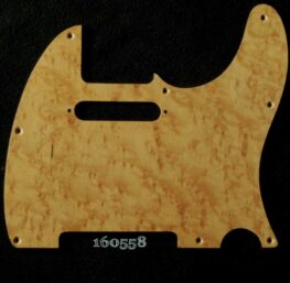 natural birdseye tele maple pickguard 558