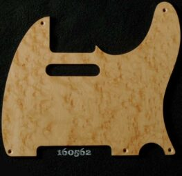 natural birdseye tele maple pickguard 562