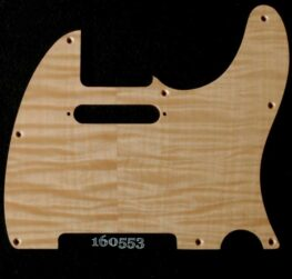 natural figured tele maple pickguard 553