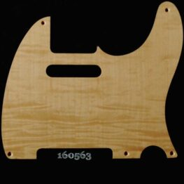 natural figured tele maple pickguard 563