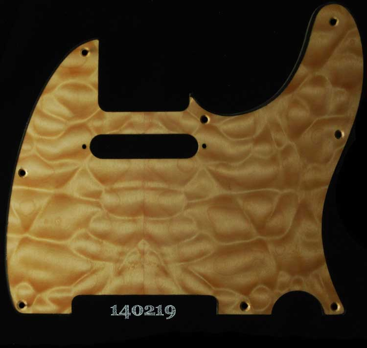 natural quilt tele maple pickguard 219